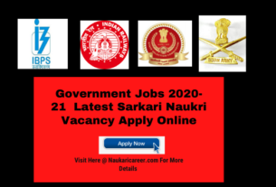 Government Jobs 2020-21