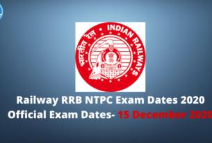 Railway RRB NTPC Exam Dates 2020
